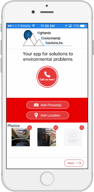 Highlands Environmental Solutions, Inc. app smartmockup